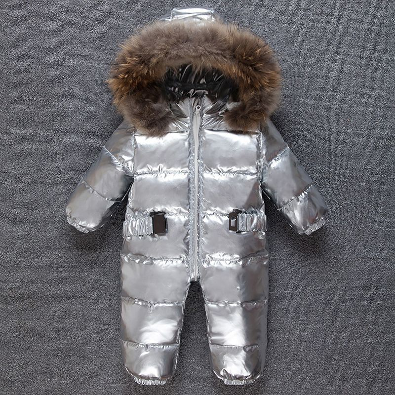 83c26c671 NAET cher baby jumpsuit winter Rompers duck down baby girl rompers ...