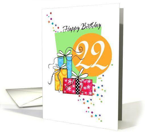 Happy Birthday 22 Card Happy Birthday Pinterest Happy