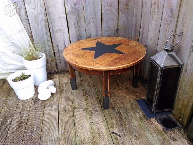 table basse ronde relookee recherche google meubles relooks. Black Bedroom Furniture Sets. Home Design Ideas