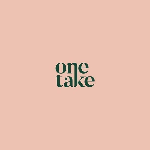 Love the simplicity of this minimalist logo design using only typography. Bold typeface on pink background. #feminine #logodesign #minimalist #typography #modern #graphicdesign