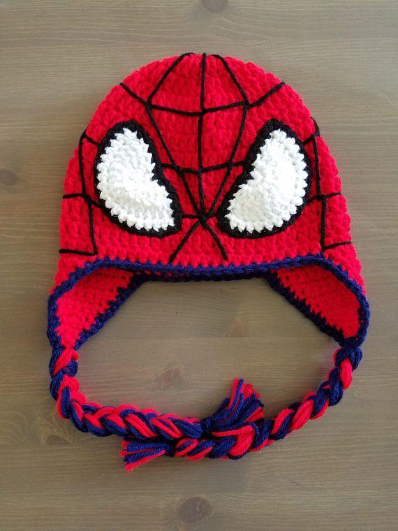 Crochet Spider-Man Hat Crochet Spider-Man Beanie | Fuchs schalmütze ...