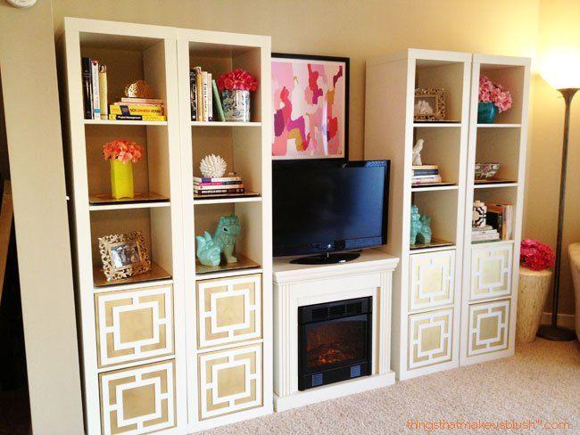 ikea hack expedit shelves makeover ikea hacks pinterest shelf makeover ikea hack and. Black Bedroom Furniture Sets. Home Design Ideas