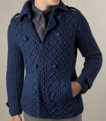 Men\'s hand knit cardigan turtleneck sweater cardigan men clothing ...