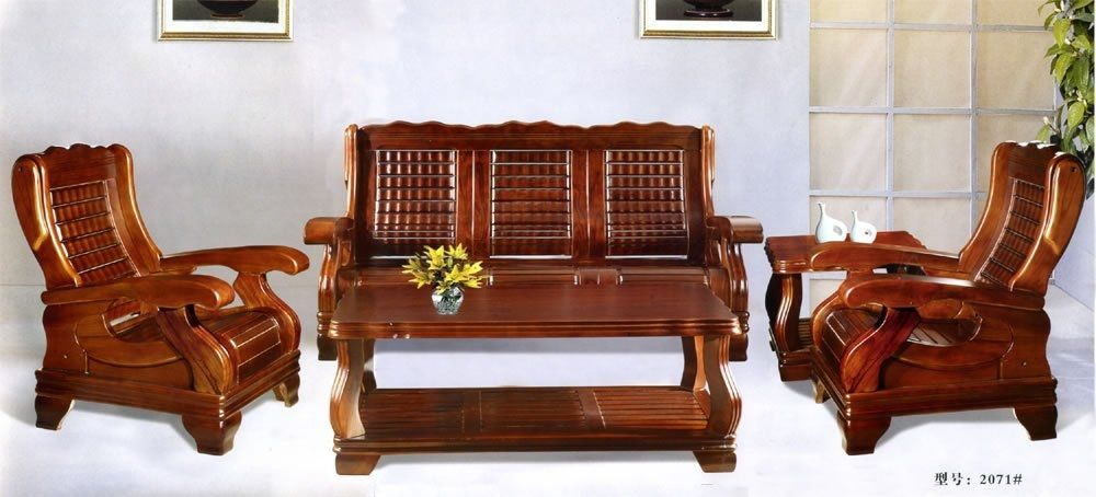 Image for wood sofa modern sofa designs for drawing room for Drawing room furniture set
