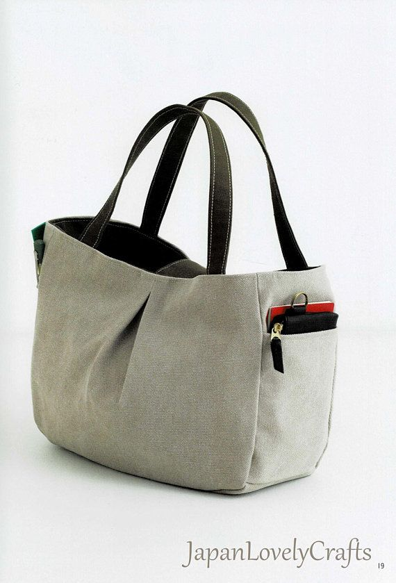 Basic Simple Canvas Bag Patterns, Japanese Sewing Pattern Book ...