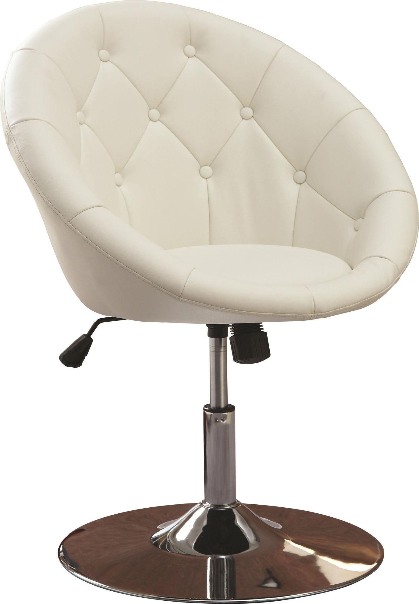 Noas contemporary tufted back tilt swivel barrel chair for Modern swivel accent chair
