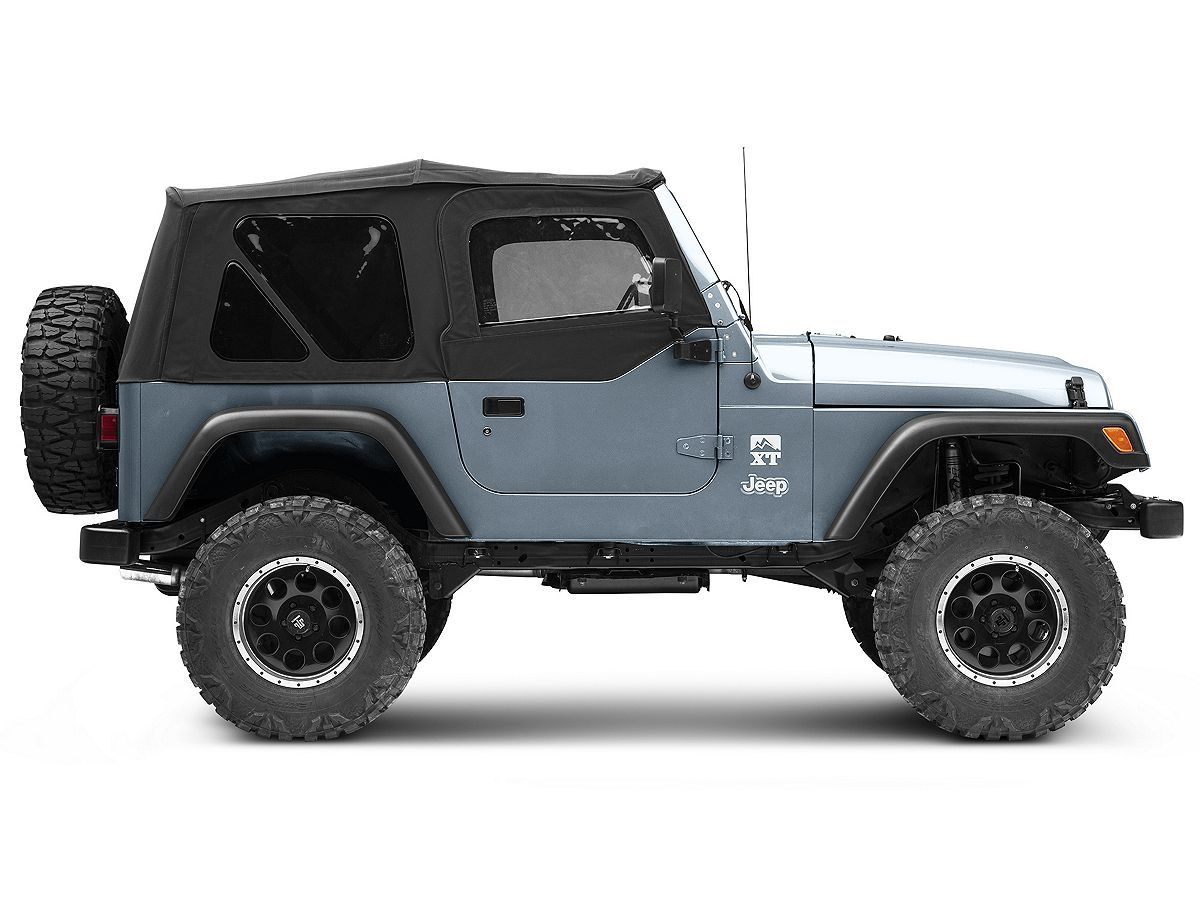 Smittybilt Jeep Wrangler Replacement Top W Upper Door Skins Tinted Windows Black Denim 9970235 97 06 Jeep Wrangler Tj W Factory Soft Top Excluding Unlim In 2020 Jeep Wrangler Tj