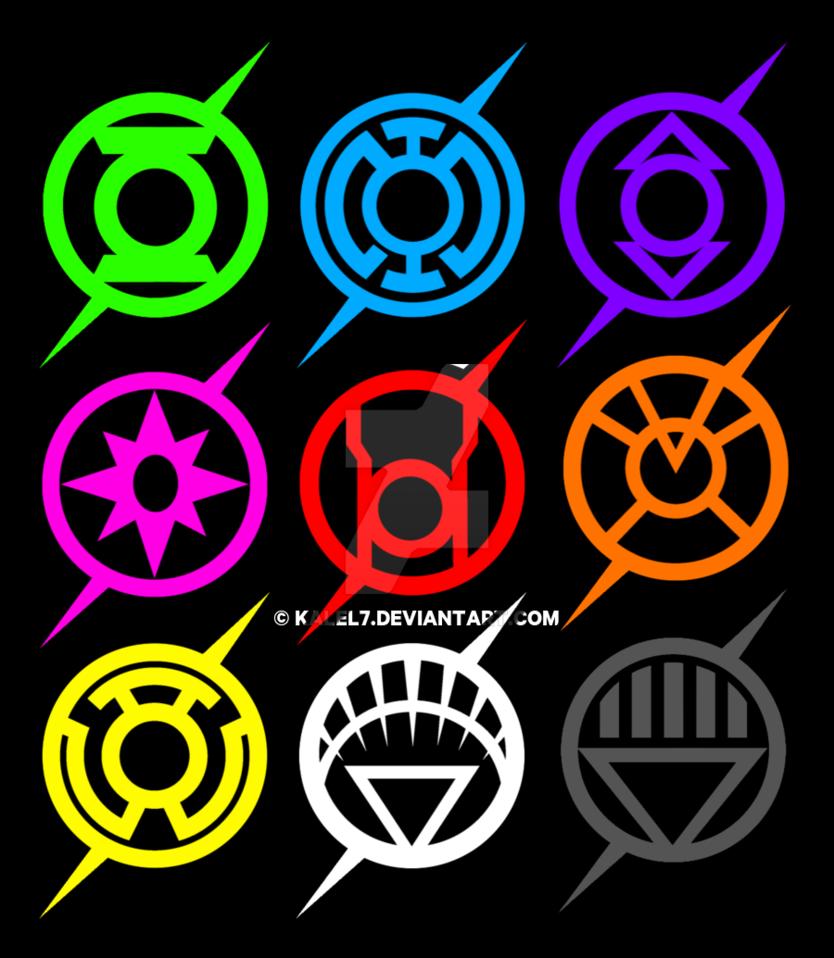 the flash lantern corp logo spectrum by KalEl7 on