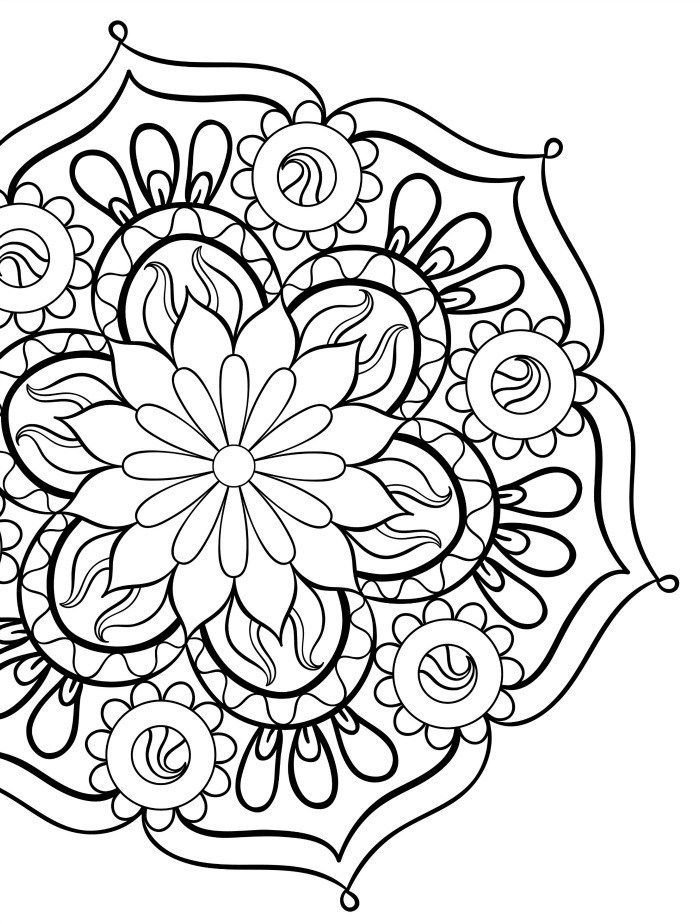 Beautiful Mandala Coloring Pages For Free Download Coloring Pages