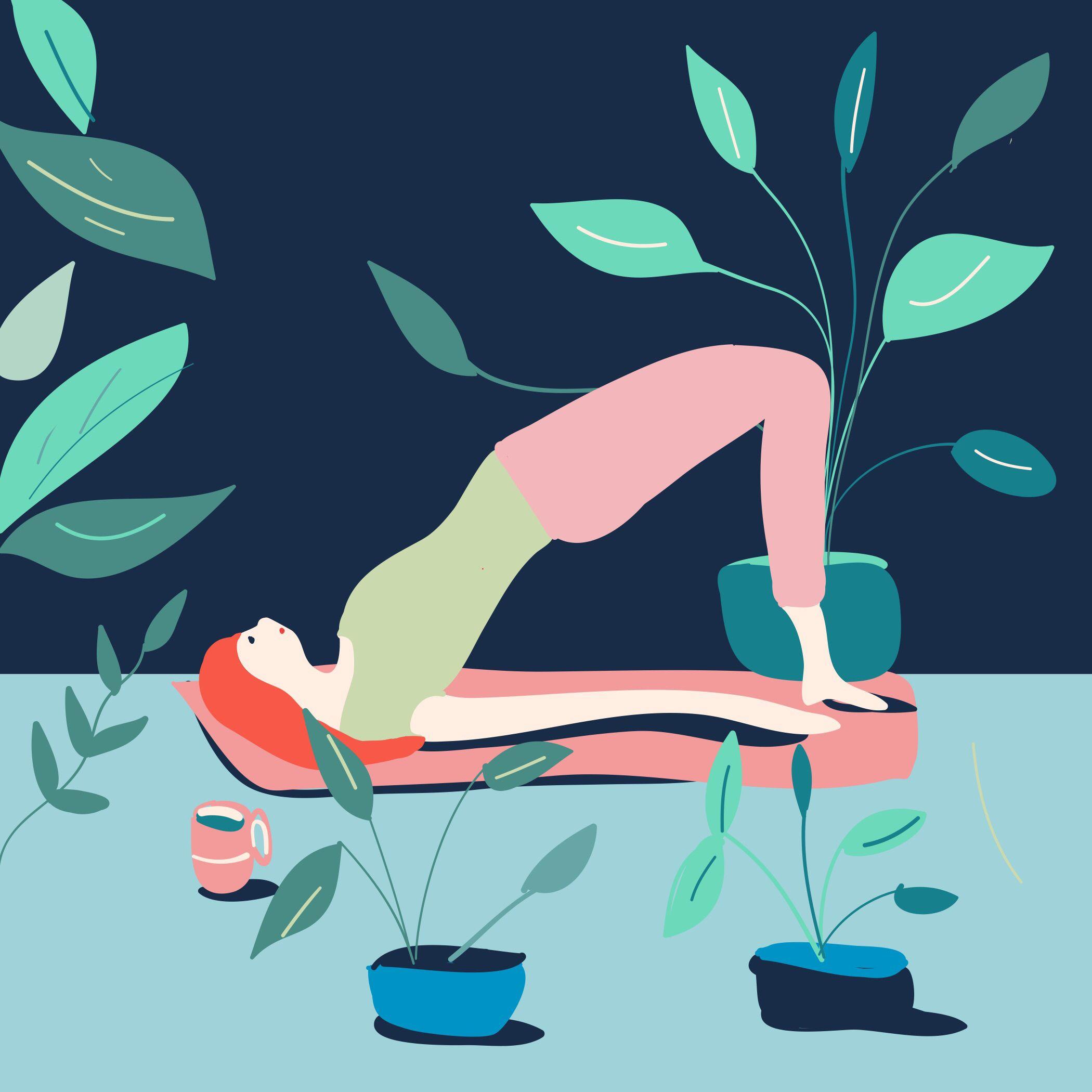Illustration Numérique Maison Dessin Plante Green Sport