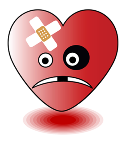 Beat Up Heart Emoticon Smiley Emoji Emoji Movie