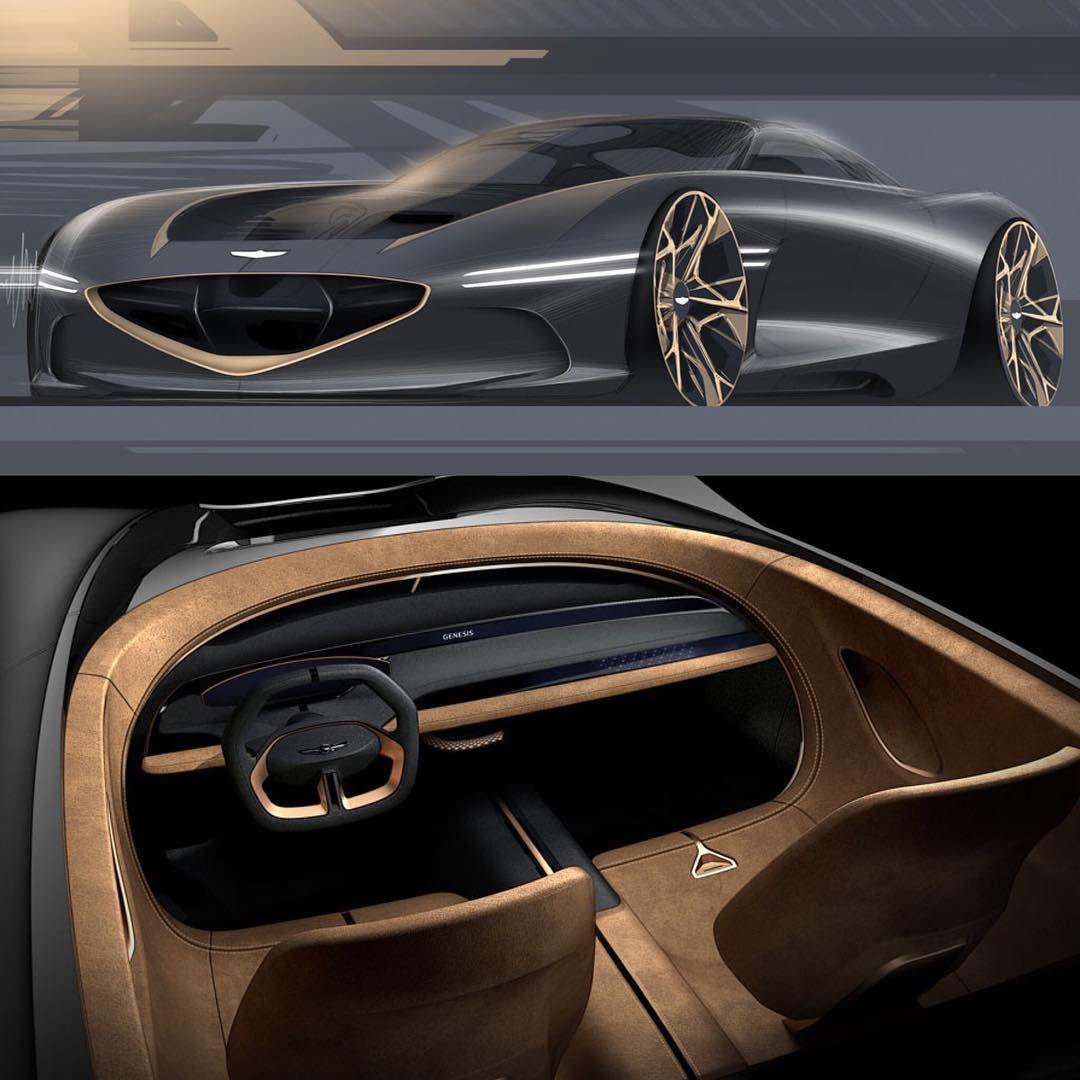 2018 Genesis Essentia Exterior Design Sketch Arseny Kostromin
