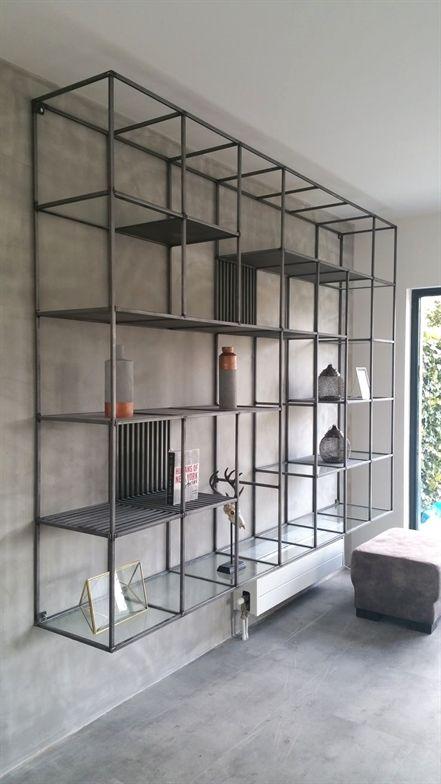 Scaffalature Metalliche Reggio Emilia.Industriele Stalen Open Vakken Kast Design Scaffali