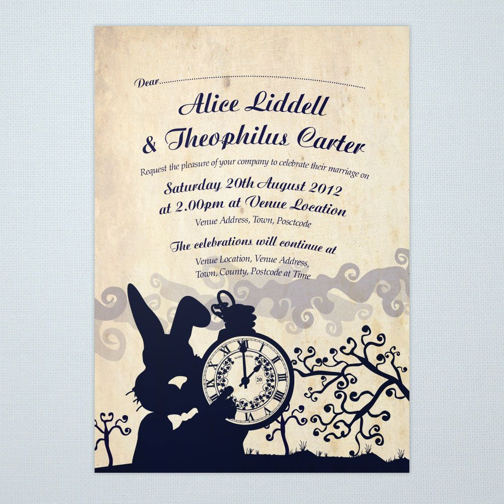 Alice In Wonderland Bridal Shower Tea Party Invitation Templates ...