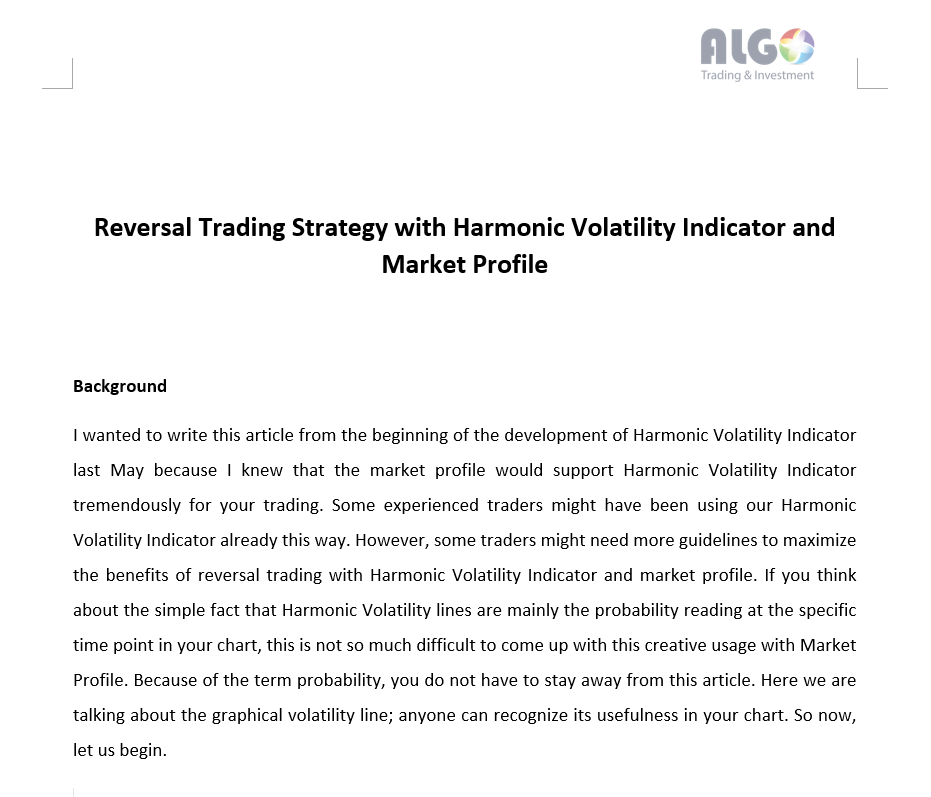 Revealing Reversal Trading Strategy with Harmonic Volatility