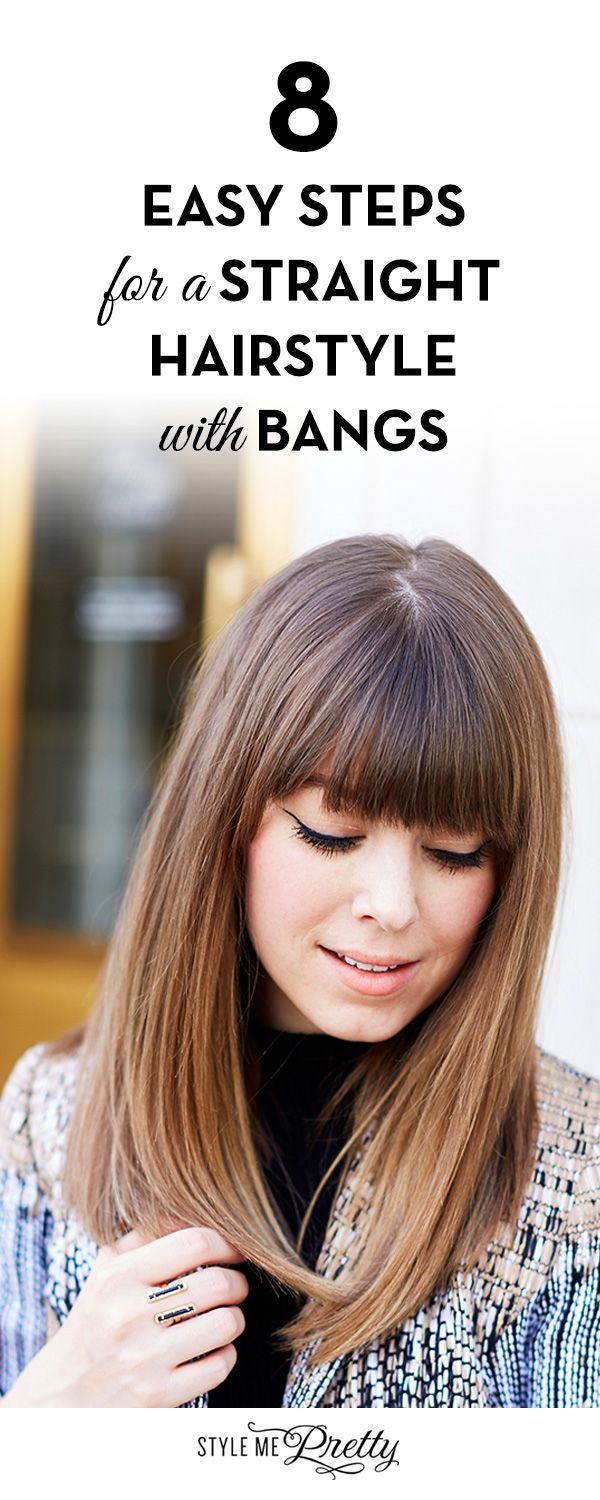 easy steps for a straight hairstyle with bangs weddings