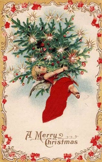 A merry Christmas wish for you. #vintage #Christmas #cards