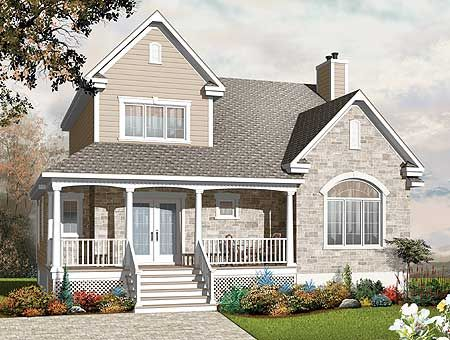 Plan 21890dr Stone And Wood Charmer In 2020 Country Style House Plans Traditional House Plans House Plans