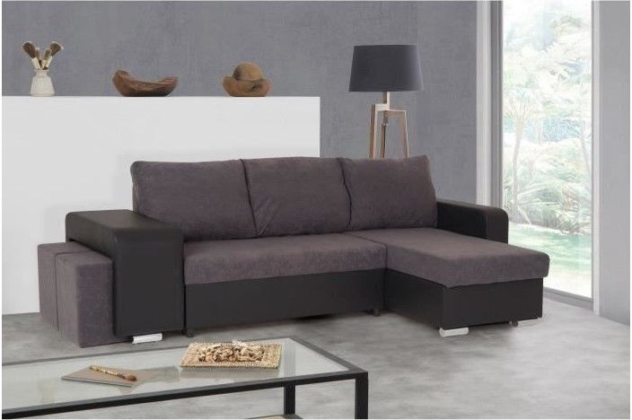 Cdiscount Soldes Canape D Angle.Memphis Canape D Angle Reversible Convertible 5 Places Tissu
