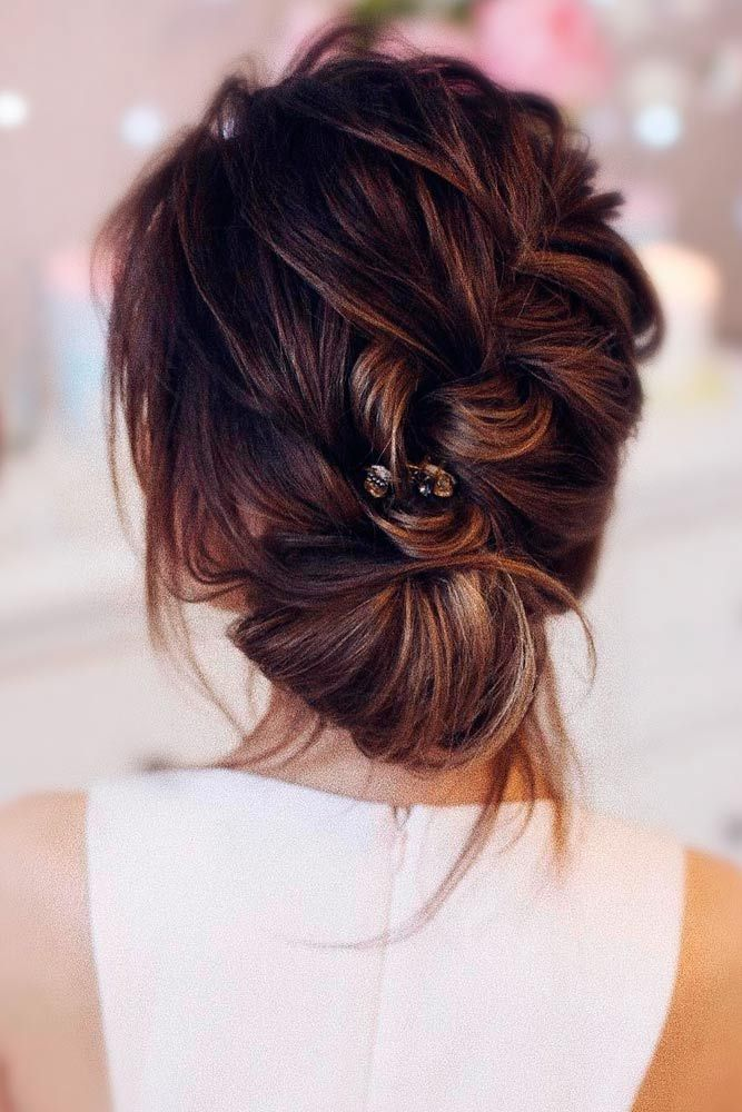 Beautiful Braided And Twisted Updo Wedding Hairstyle For Brides Get Inspired By This Braid Bridal Messy Hairstyles