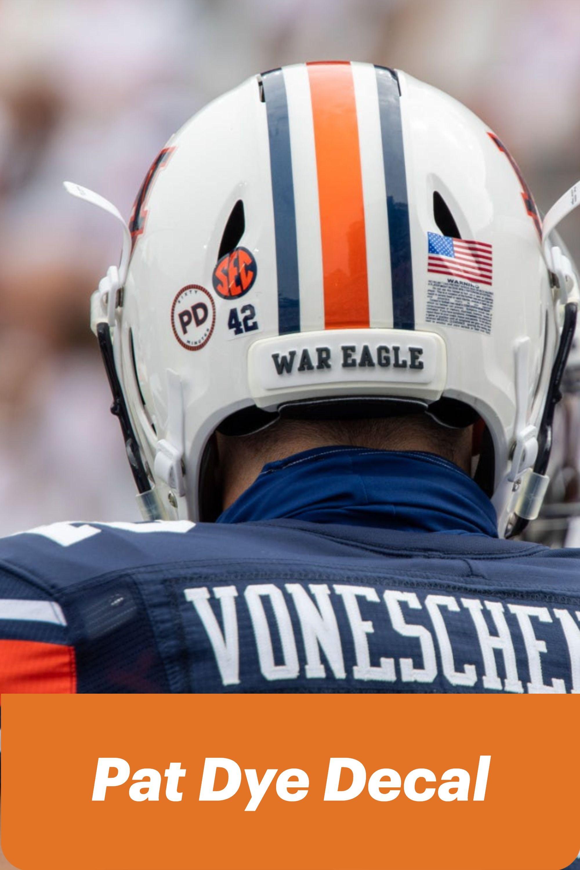 Pat Dye Memorial Decal In 2020 Auburn Football Memorial Decals Football Uniforms