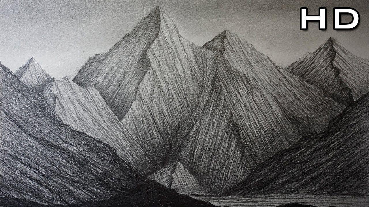 Como Dibujar Montanas A Lapiz Paso A Paso Dibujo Facil Para Ninos Y Pr Como Dibujar Montanas Montanas Dibujo Dibujos Faciles Para Principiantes