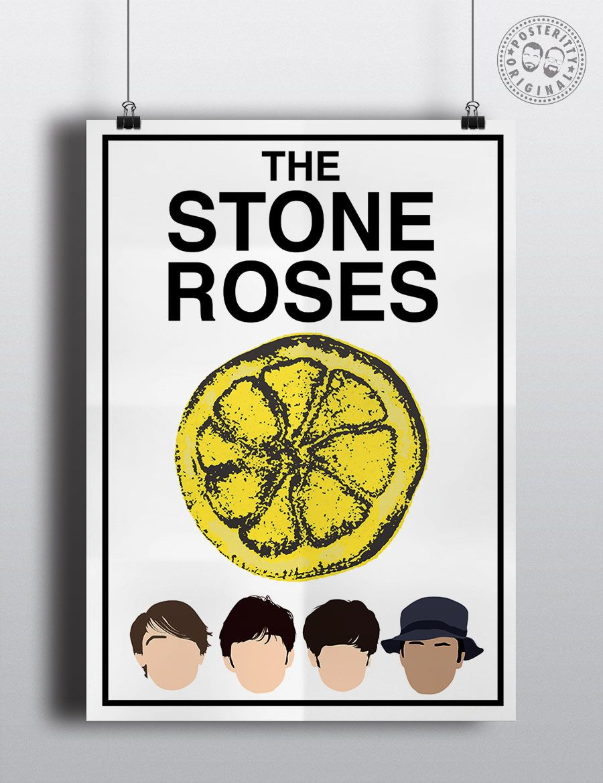 STONE ROSES Minimalist Poster Silhouette Music Heads Minimal Ian Brown