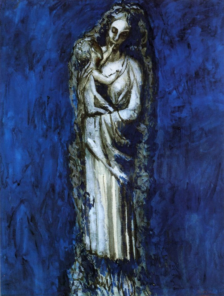 Minimalist Madonna with Garland Pablo Picasso GarlandsReligious PaintingsReligious - Popular religious paintings New