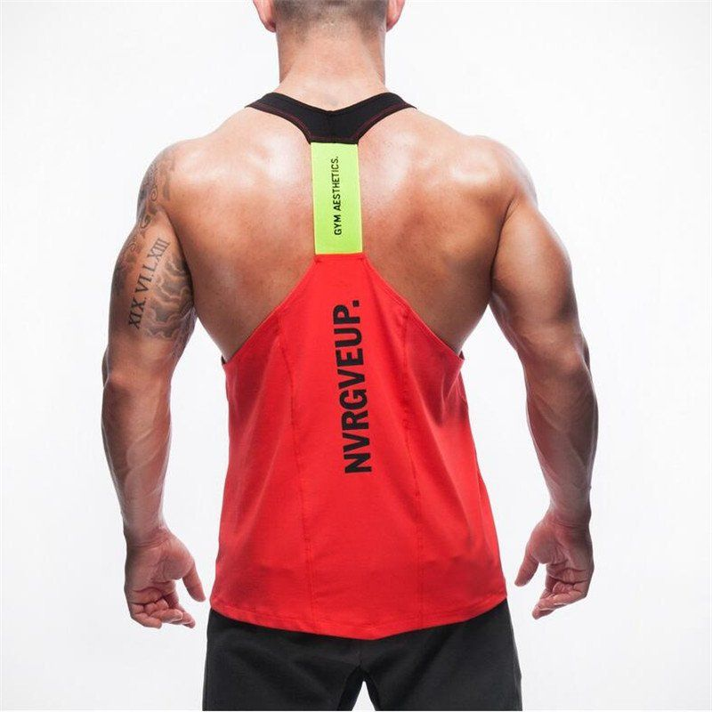 44426322bb131 New Brand Shark Mens Tank Tops Stringer Bodybuilding Fitness Men s Tanks  Clothes Gymshark Singlets