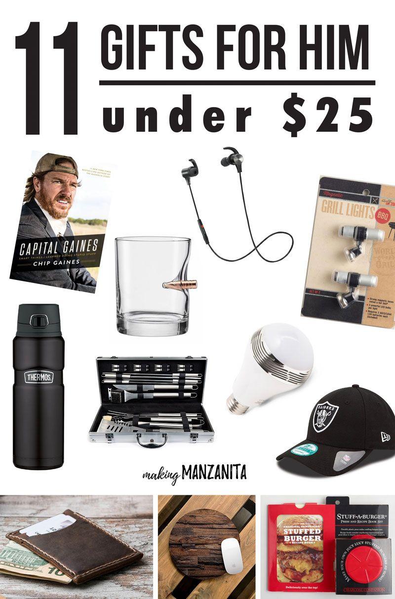 Unique mens xmas gifts under $25