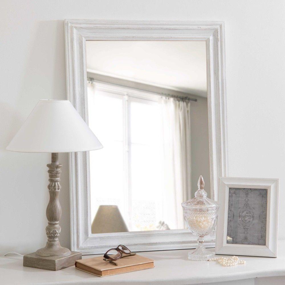 Spiegel aus Paulownienholz weiß ... | Spiegel | Pinterest | Spiegel
