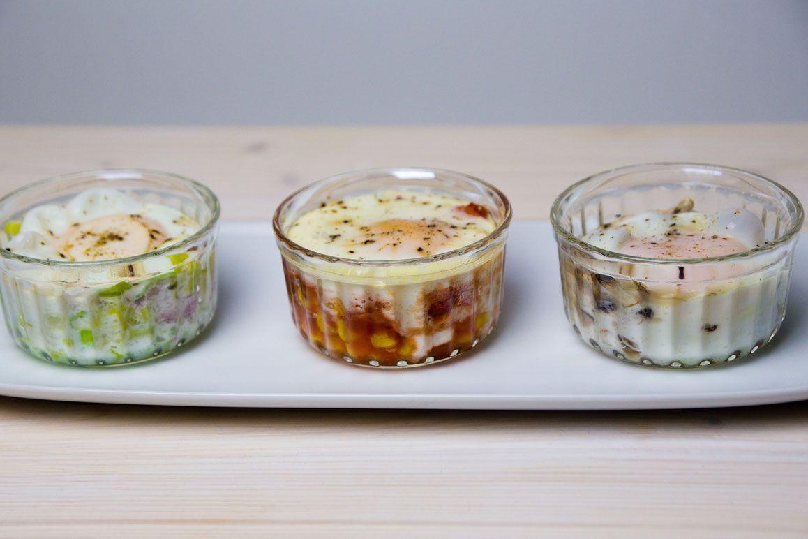 Würziges Ei im Glas. | Rezepte für Dampfgarer | Eier im