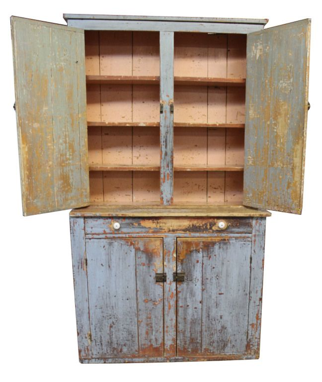 Primitive Stepback Cupboard - Primitive Stepback Cupboard Cupboard And  Primitives - Antique Primitive Cupboard Antique Furniture