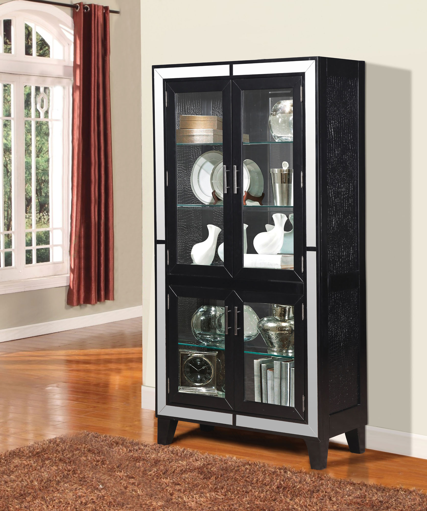 Caree Curio Cabinet Acme Furniture Home Gallery Stores