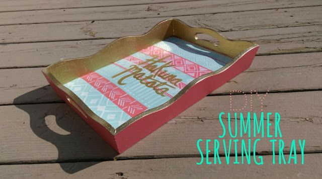 DIY summer serving tray: hakuna matata and tribal print