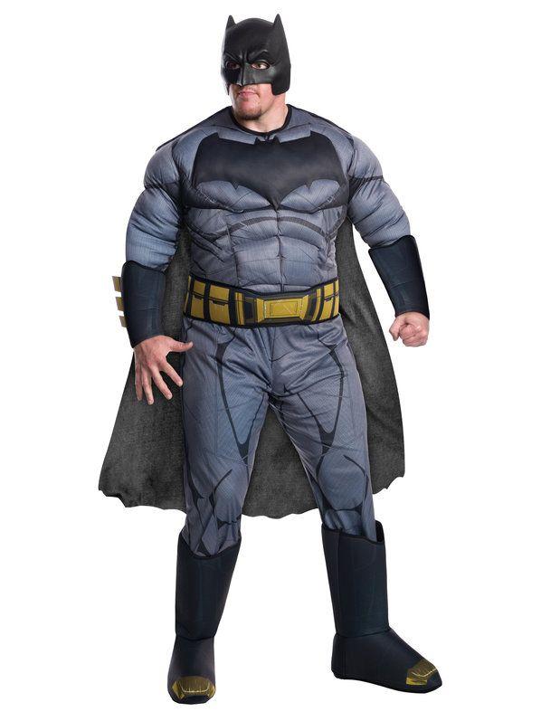 Adult BATMAN DELUXE MUSCLE CHEST Superhero Mens Fancy Dress Halloween Original