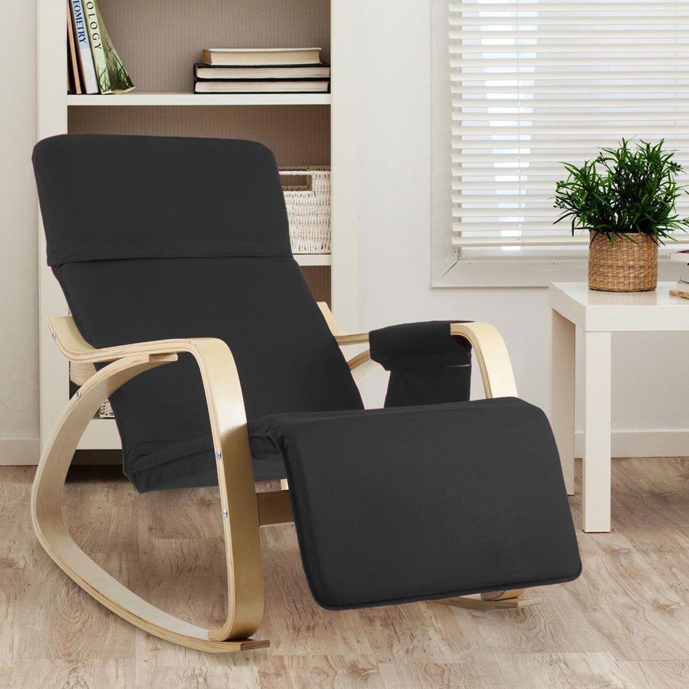 Chaise A Bascule En Bois Ergonomique Reglable Relax
