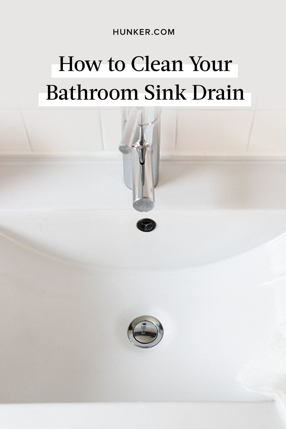 Got A Bathroom Sink Drain That Smells Here S How To Clean Hunker Sink Drain Bathroom Sink Drain Sink