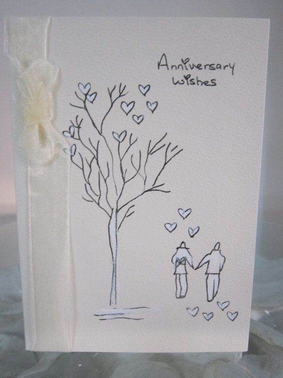 Anniversary Card Hand Painted Card Wife Anniversary Card Etsy Hand Painted Card Anniversary Cards For Husband Paint Cards