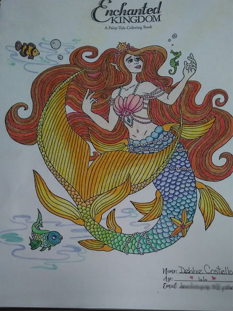 Enchanted Kingdom A Fairy Tale Coloring Book By Kimberly Kay And N Gephart EnchantedColoring AdultColoring Mermaid