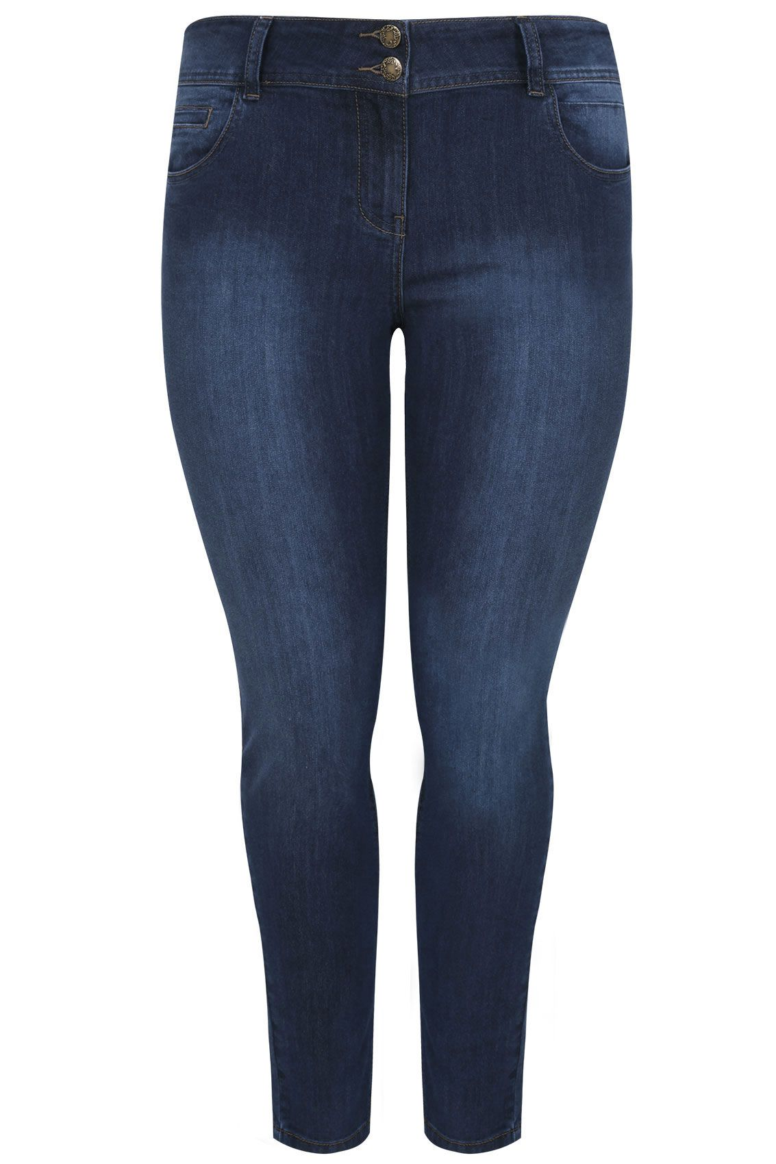 dcc3f2b322c Indigo Skinny SHAPER AVA Jeans Available in 30