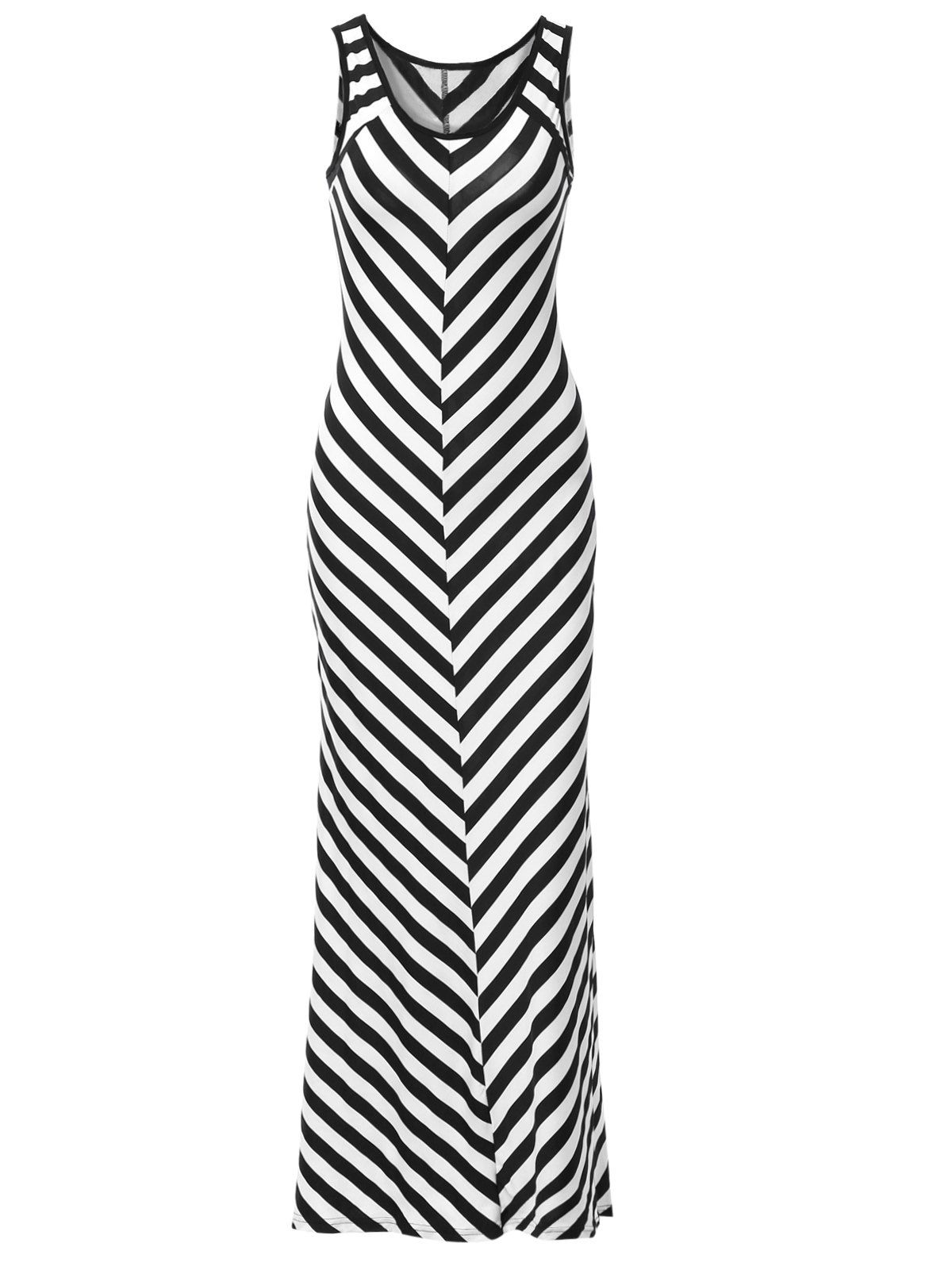 Trendy Scoop Neck Sleeveless Striped Skinny Dress For Women from 21.48$ by SAMMYDRESS