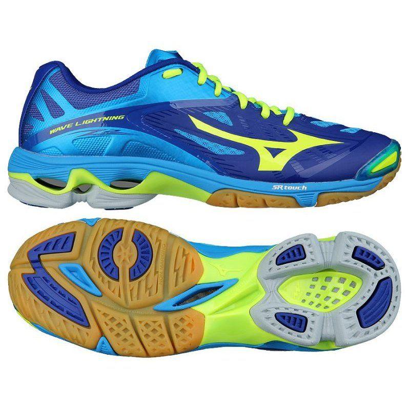 Buty Do Siatkowki Mizuno Wave Lightening Z2 M V1ga160043 Niebieskie Wielokolorowe Volleyball Shoes Mizuno Shoes Badminton Shoes