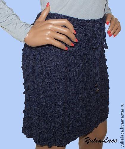 Вязаная юбка 46 размера