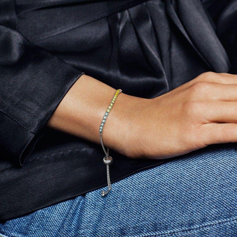 ea76cad1f11a9 Pandora Multi Color Sparkling Strand Bracelet #jewelry #jewellery ...