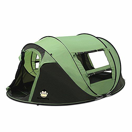 Cheap MaxMiles 3 or 4 Person Family-Size Tent Premium Lightweight & Rugged Fully-Waterproof Outdoor INSTANT POPUP Tent for C&ing Beach Woods Play Den ...  sc 1 st  Pinterest & Tutent Auto One Second Open Camping Dome Four Person Tent -Green ...