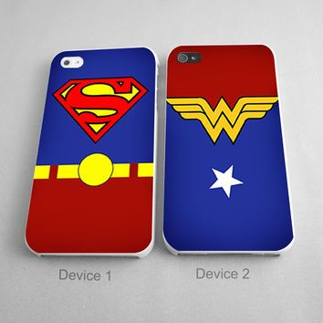 Superman and Wonder Woman His and Hers Couples Matching Phone Cases  https://wanelo.com/search?query=superman+wonder+woman