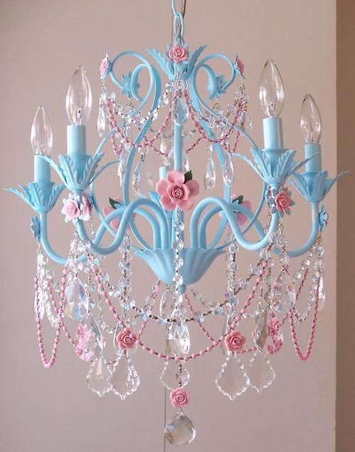 Magical In A Little Girl S Room Spray Paint Chandelier And Add The Bling