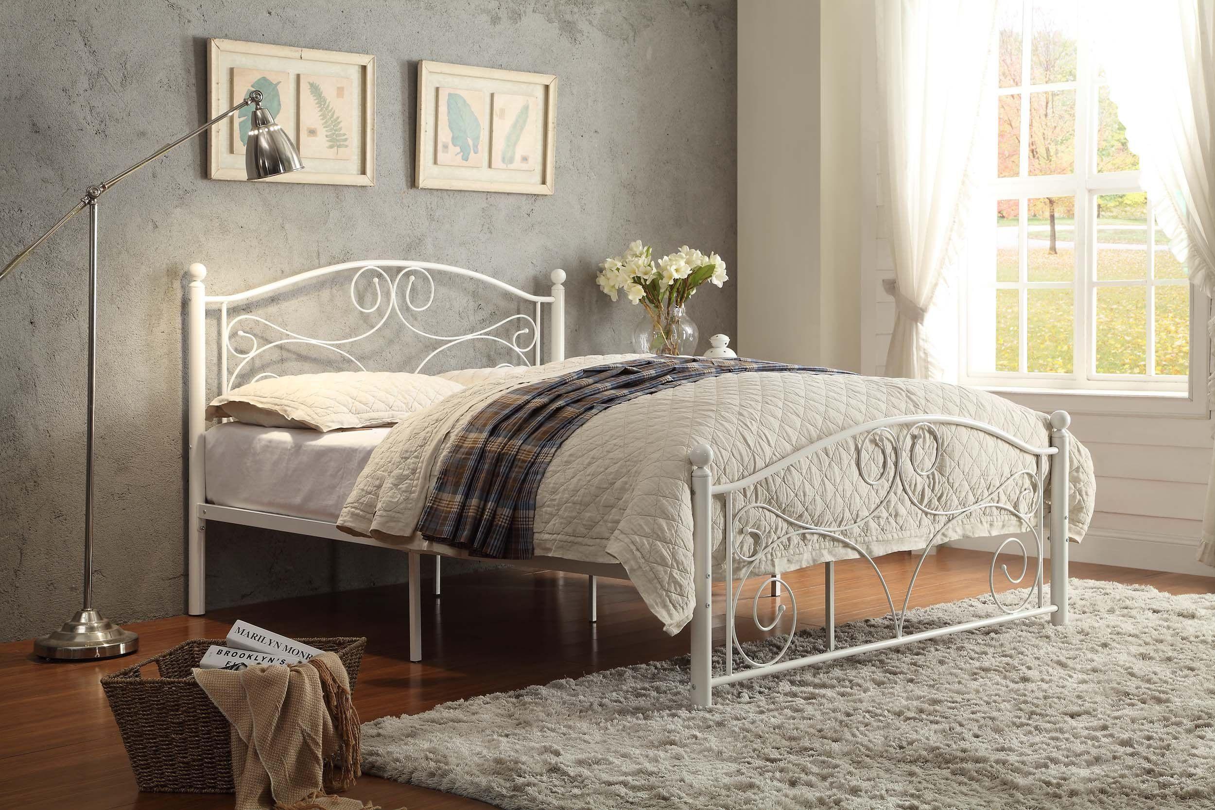 Homelegance 2021Fw13A Metal Platform Bed Full White >>> Learn More
