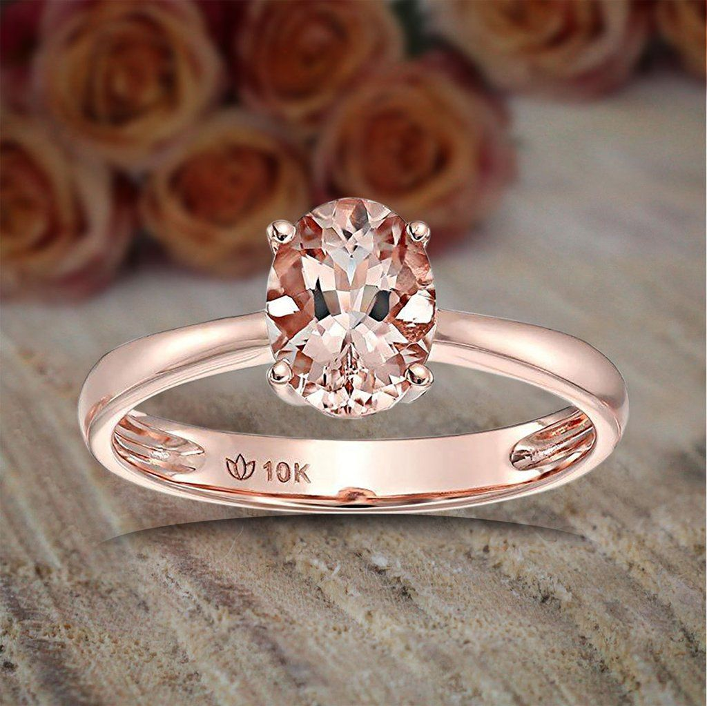 7c969c9679b7f Limited Time Sale 1 carat Morganite (Oval cut Morganite) Solitaire ...